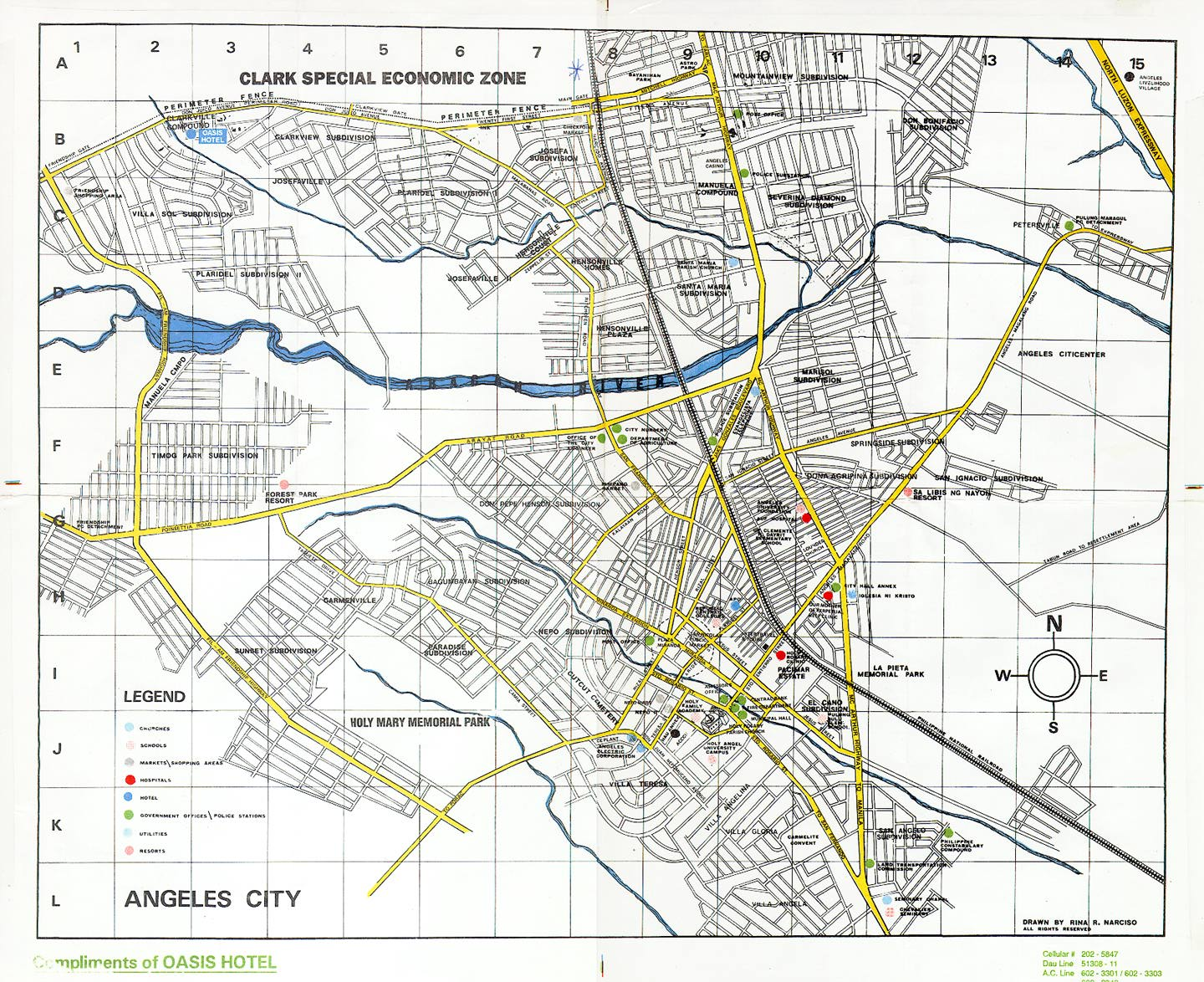 Angeles / Clark Philippines  city photos : Philippines Clark Air Base Maps, Charts, and Blueprints