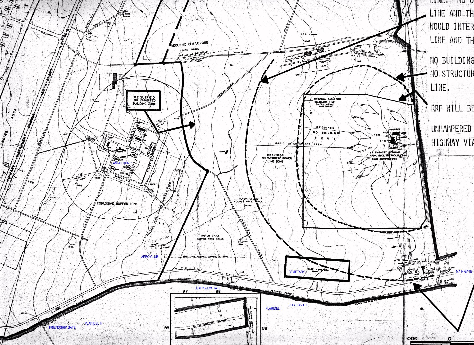 philippines clark air base maps charts and blueprints 1970s Chicago angeles city gate areas prehensive base plan department of the air force 1970 revised july 1978