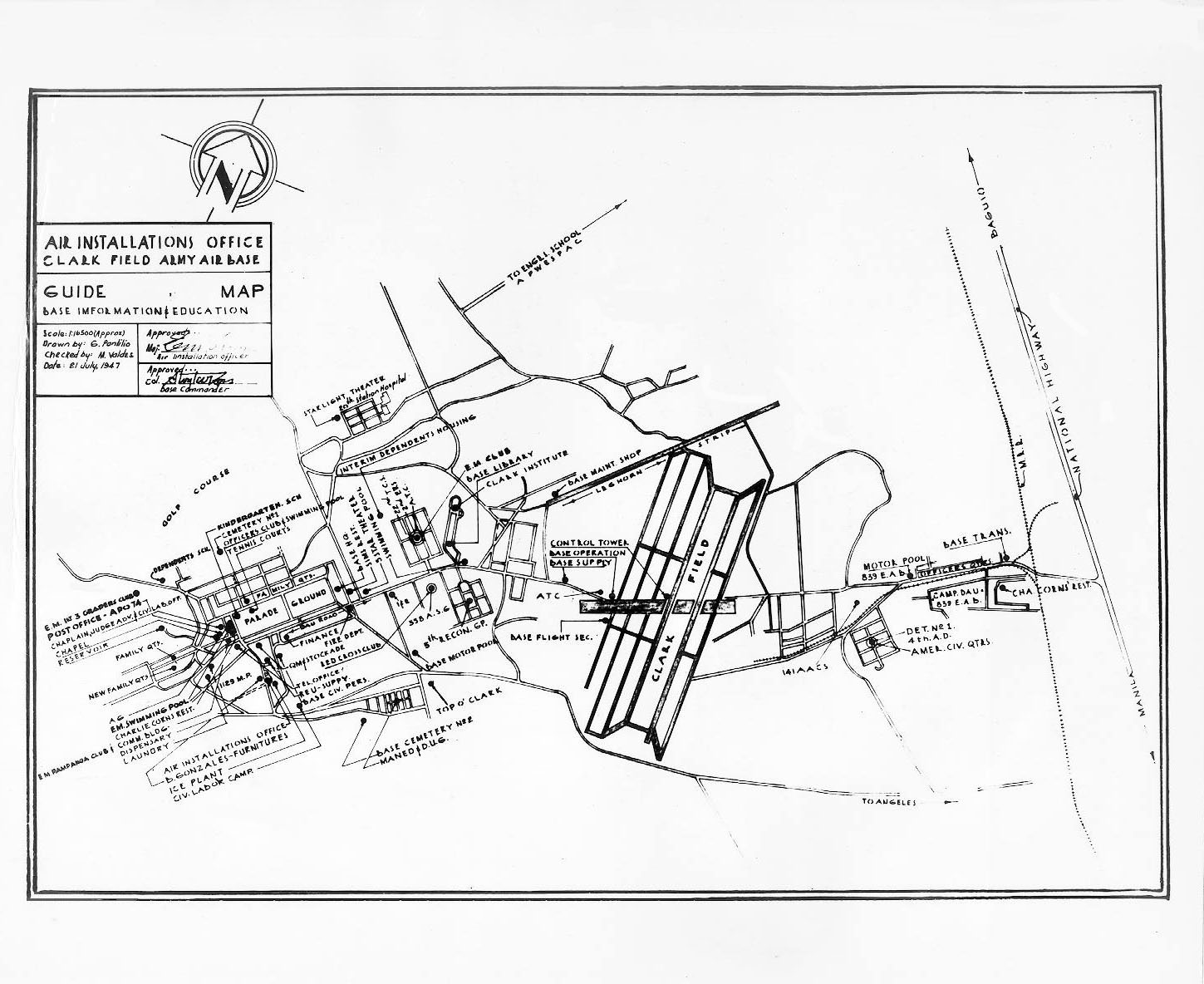 Philippines clark air base maps charts and blueprints historical base maps malvernweather Images