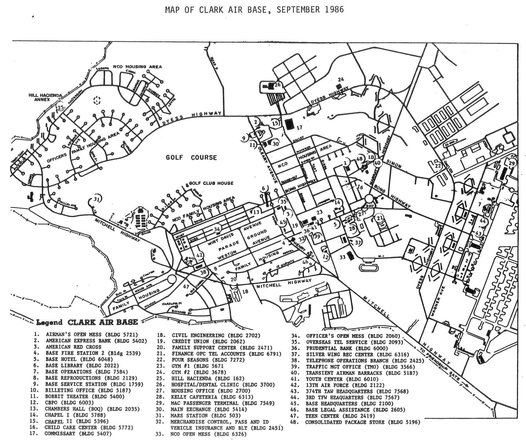 Philippines -- Clark Air Base Maps, Charts, and Blueprints