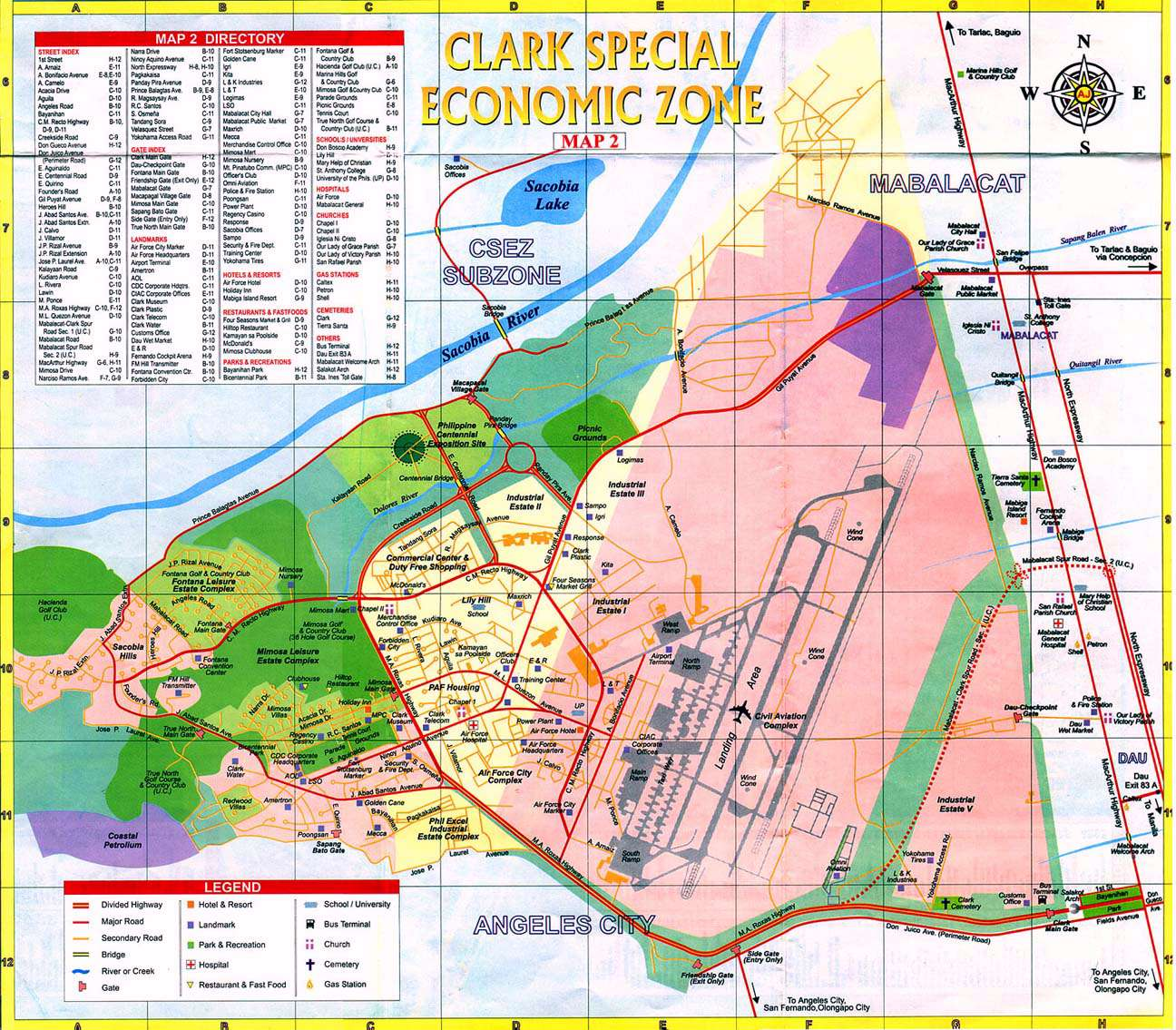 Philippines clark air base maps charts and blueprints csez street malvernweather Images